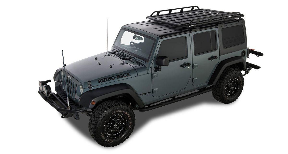 Jeep Wrangler Jk 4dr Hard Top 02 11 03 19 Rhino Rack Pioneer Tradie With Backbone 1828mm X 1426mm Roof Rack World