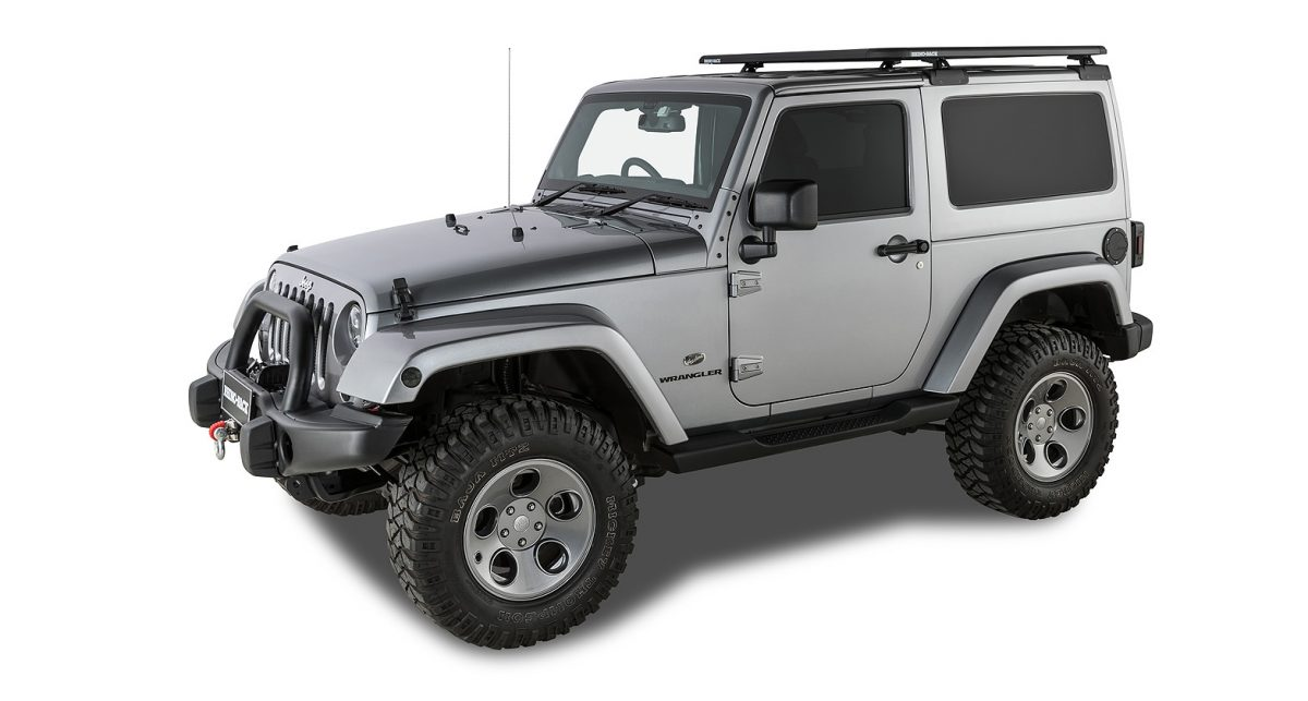 Jeep Wrangler Jk 2dr Hard Top 02 11 03 19 Rhino Rack Pioneer Platform With Backbone 1328mm X 1426mm Roof Rack World